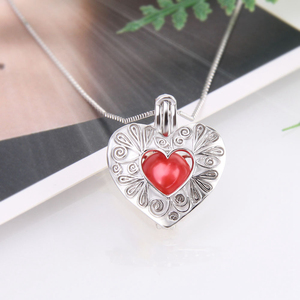 Image 4 - CLUCI 3pcs Silver 925 Heart Shaped Romantic Pendant Jewelry Gift for Women 925 Sterling Silver Pendant Pearl Locket SC299SB
