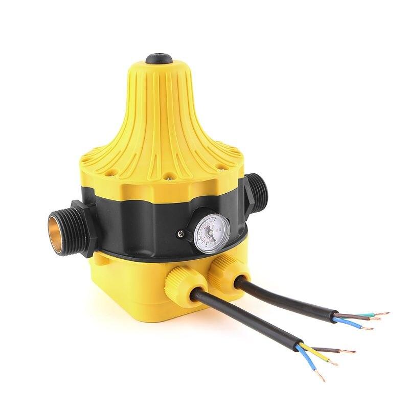 Pompe à eau automatique pressostat pompe à eau électrique régulateur de pression jauge de pression d'eau avec fil nu de 50 cm