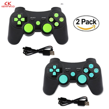 K Ishako free shipping double shock joystick remote gamepad 2Packs Bluetooth Controller Gamepad for playstation3