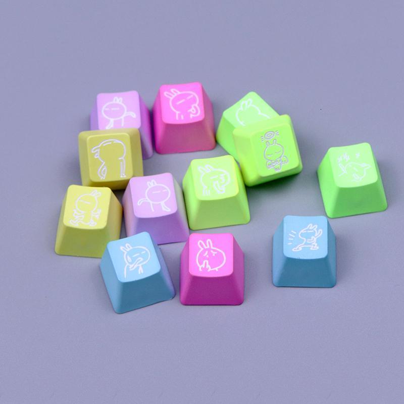 IKBC kbc Tuzki 12pcs Constellation Rainbow Keycaps ESC F Zone for Gaming Mechanical Keyboard