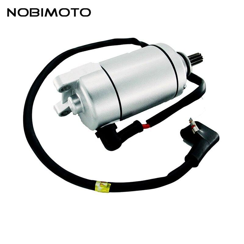 Moteur de démarrage électrique en aluminium de haute Performance de démarreur de moto de CB250 10 dents pour le CQ-147 refroidi par Air de moteurs de Loncin CB250