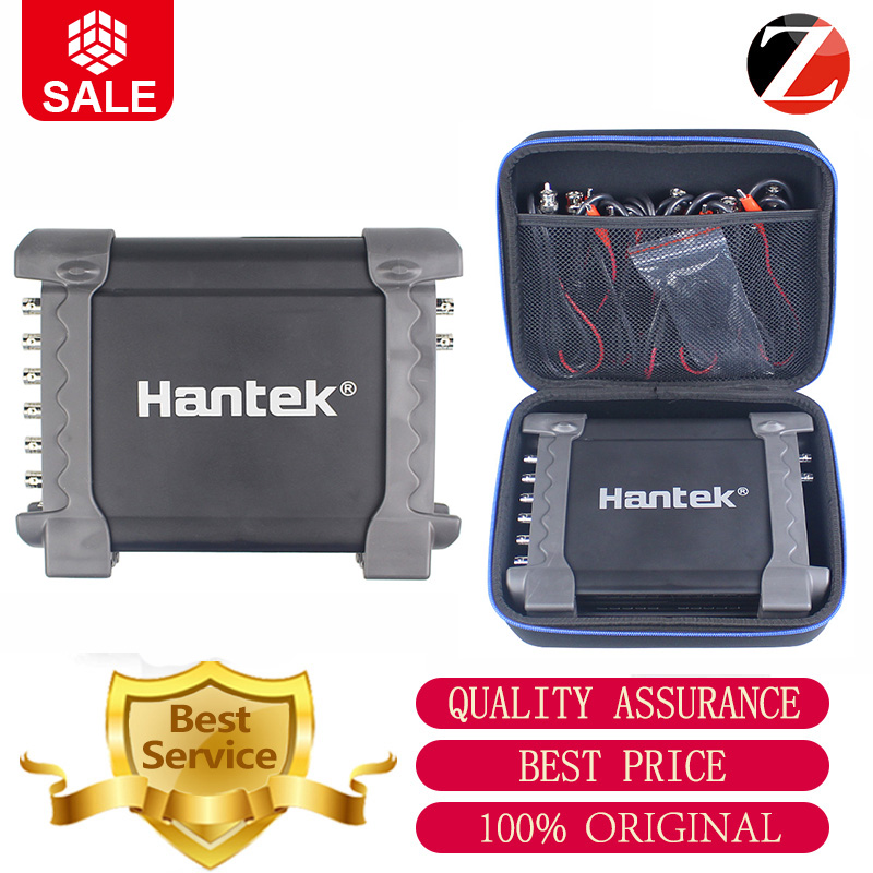 Hantek oscilloscope Digital Automotive 1008A 8 channels for vehicle testing 2 4MSa s 12bits charging interface