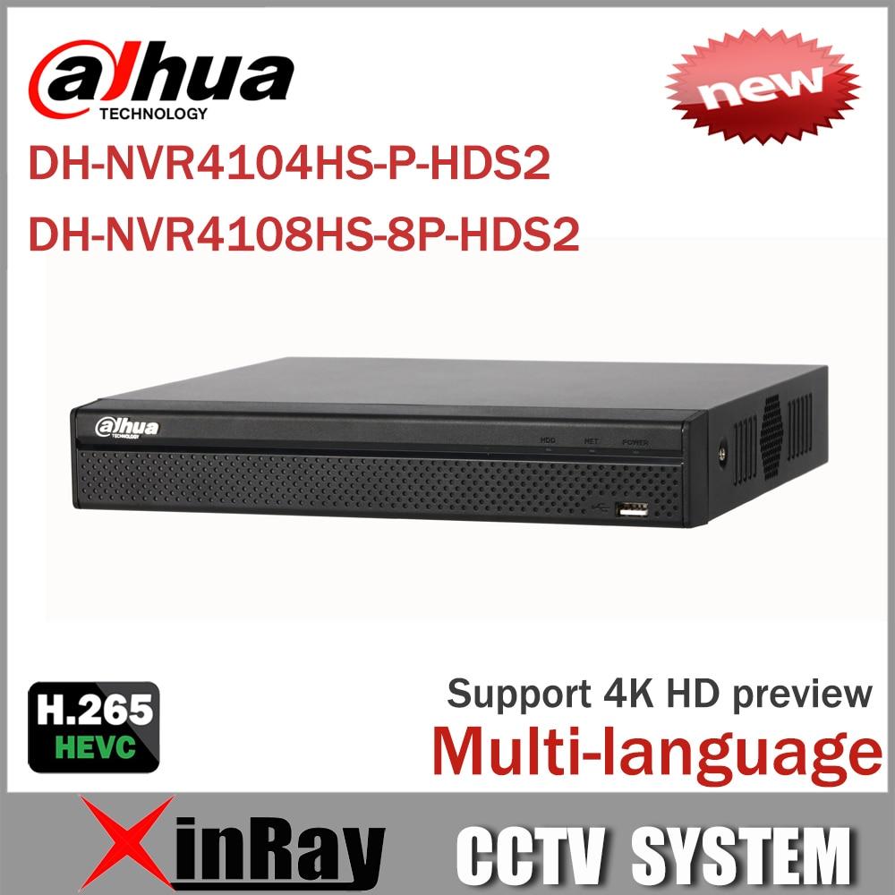 Cost Effective Dahua 6MP Network Video Recoder NVR4108HS-8P-HDS2  NVR4104HS-P-HDS2 4/8CH NVR Support ONVIF CGI Conformant келли кл 4104 6 предметов нж кастрюли