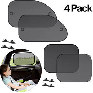 Cover-Block Visor-Shield Screen Sunshade Car-Side-Window-Shade Kids New 4PCS for Cling