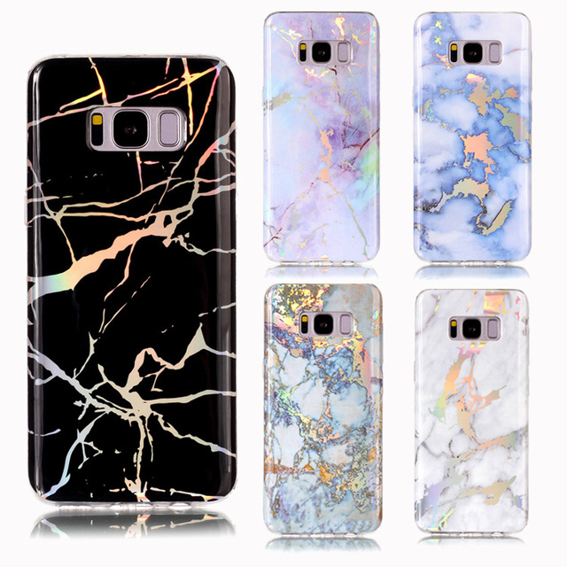 promo code acff9 5ed30 US $3.93 |Electroplated Chrome Marble Case for Samsung Galaxy S8 S9 Plus S7  Edge S6 Soft TPU Granite Stone Phone Bag Gel Case Cover Coque on ...