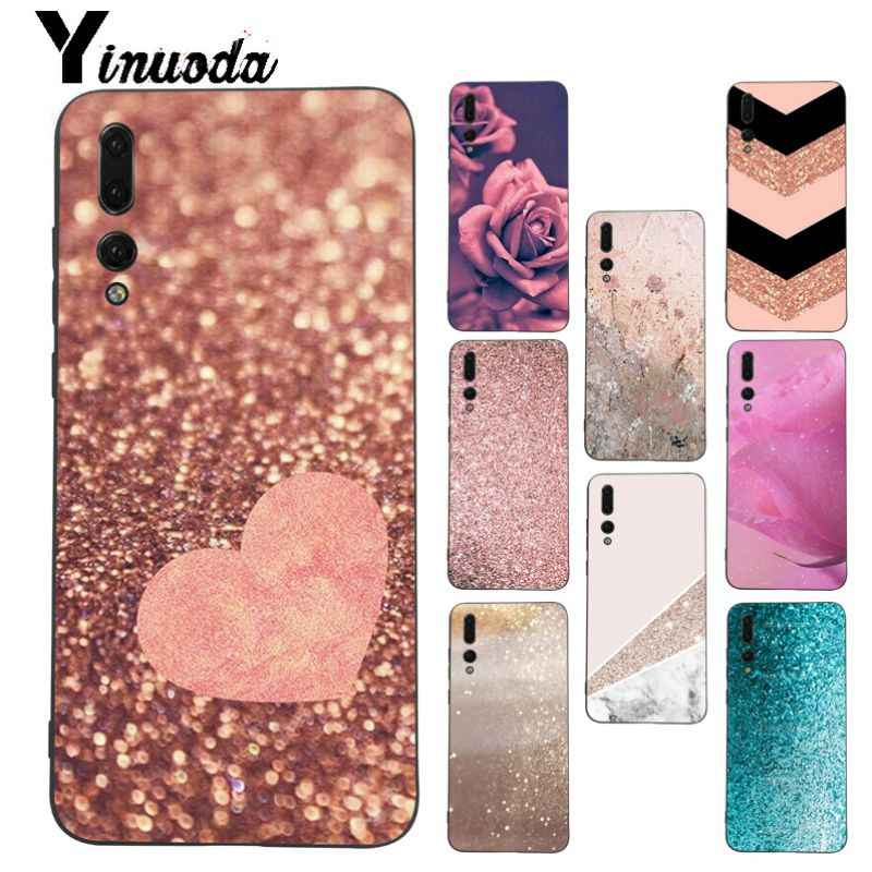 Yinuoda Love Heart Gold Rose Marble Stripes phone case for Huawei honor 8x 20 7a P20Lite P10 Plus Mate10Lite Mate20 P20 Pro case