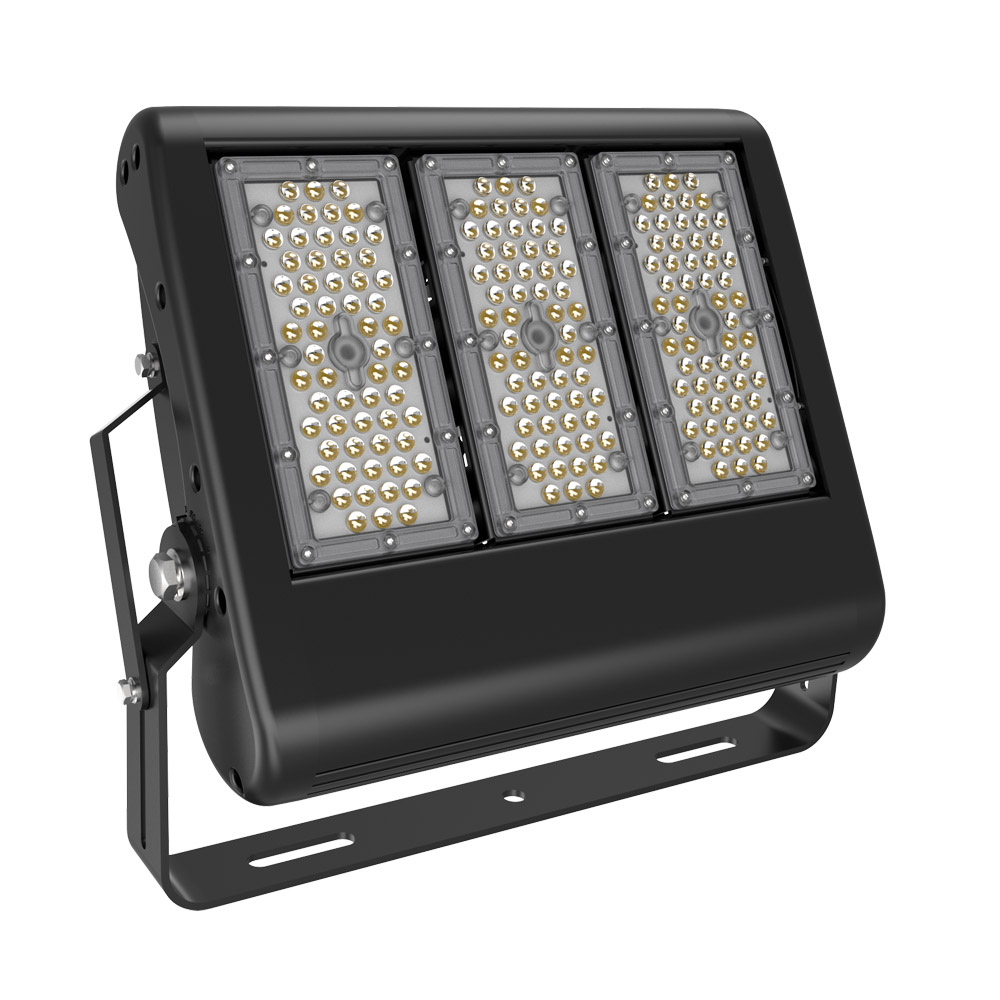 BECOSTAR 3pcs/pack Meanwell LED driver Industrial Football Court 150W LED Stadium Flood lamps warranty for 5 years