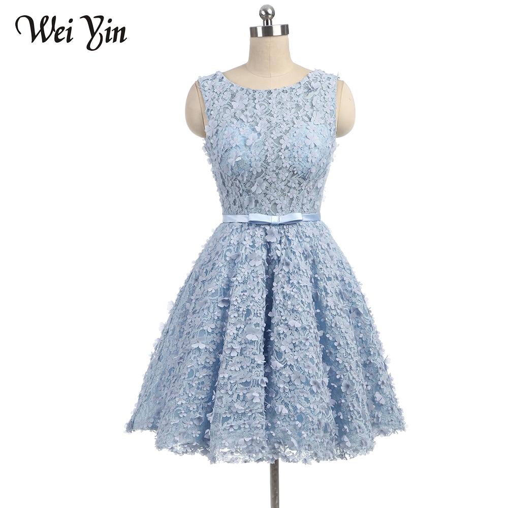 WeiYin Cocktail Dresses Above Knee Length Short Party Dresses Formal Dress Women Occasion Dresses
