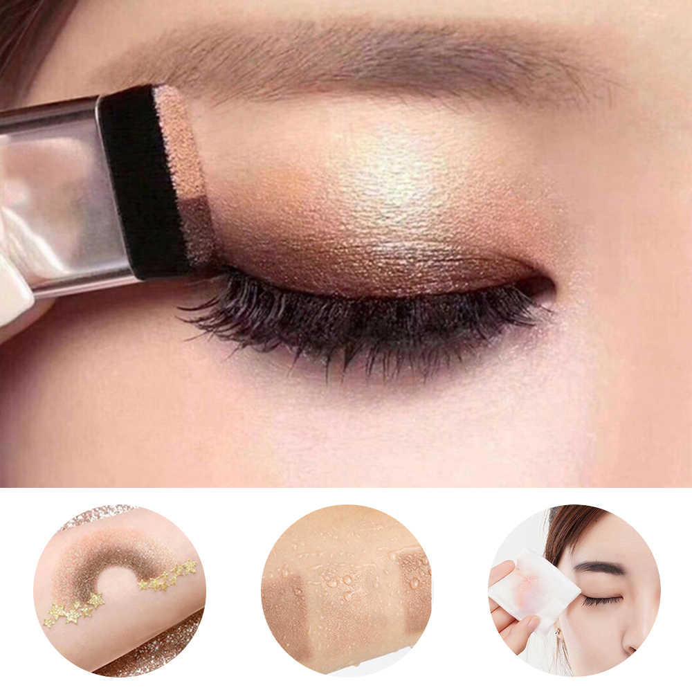 Double Color Lazy Double Layer Shadow Eyeshadow Makeup Palette Pigment Waterproof Shimmer Eye Makeup Cosmetics