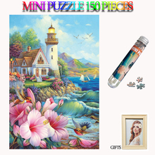 MOMEMO Observation Tower Jigsaw Puzzles 150 Pieces Mini Paper Adults Tube Puzzle Brain Teaser Assemble Toys for Teens Kids Gift