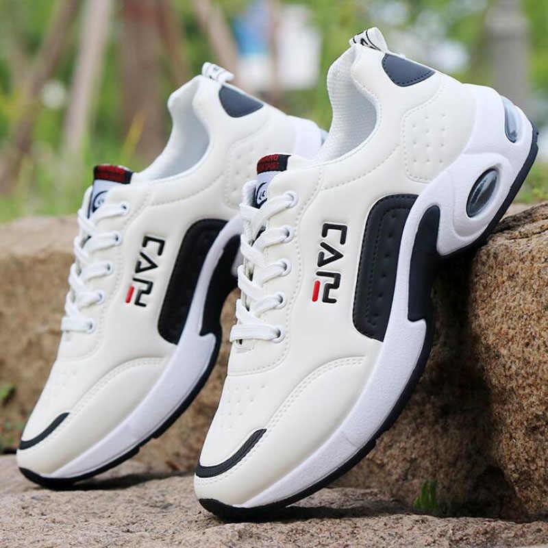 2019 neue männer Casual Schuhe Dämpfung Kissen Schuhe Campus Wind Nicht-Slip Schuhe Leder Nähte herren casual Schuhe
