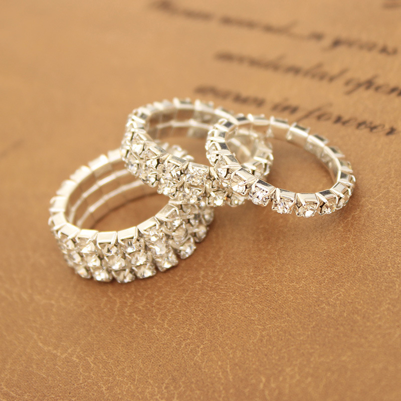 Fashion national style wedding rings for women crystal Vintage style fashion rings