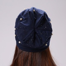 Casual Hat with Rhinestones for Women