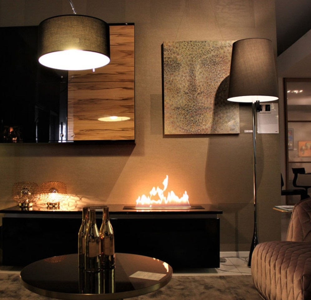 Inno Living Fire 48inch 1.2Mremote /wifi Control Ethanol Burner Electric Modern Fireplace