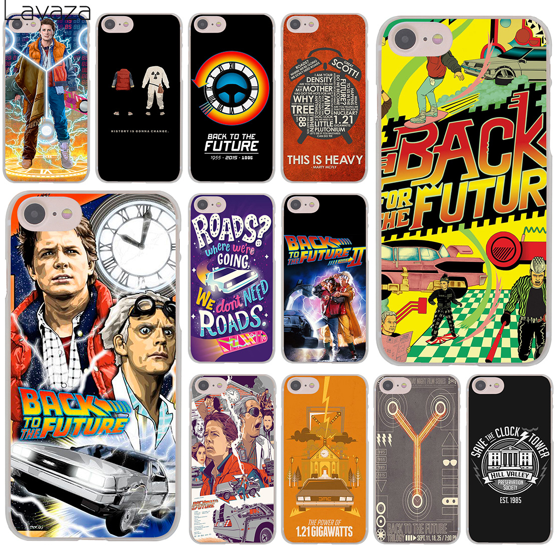 Lavaza Back To The Future Hard Cover Case for Apple iPhone 8 7 6 6S Plus 5 5S SE 5C 4 4S X 10 Coque Shell