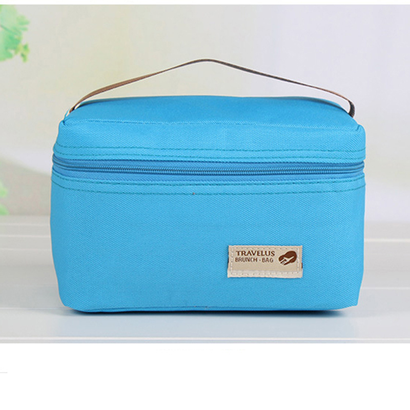 Practical Small Portable Ice Bags 4 Color Nylon Cooler Bag Thermos Lunch Box Picnic Packet Bento Box Food Thermal Bag