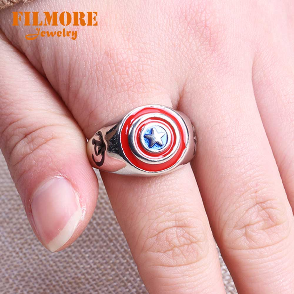 2018 Hot Movie Captain America Ring Avengers Age of Ultron Ring ...