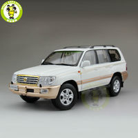 1/18 Toyota Land Cruiser LC100 Diecast SUV Car Model Toys for gifts collection hobby White
