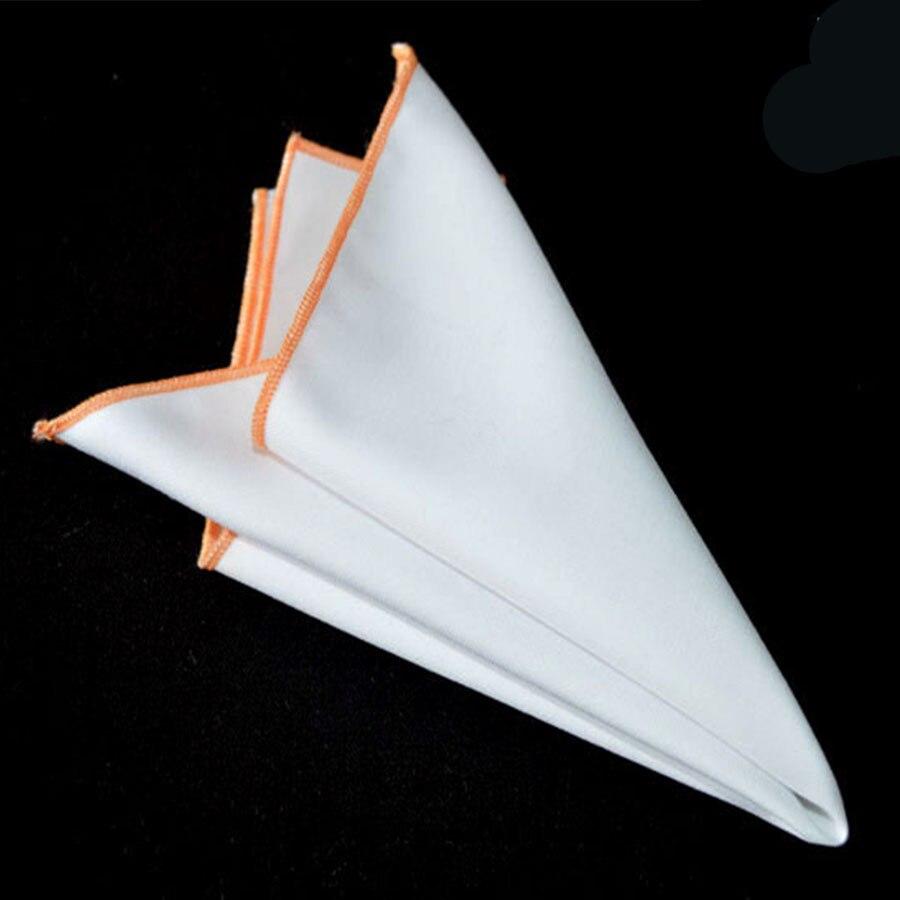 Men's Suits Towel Solid Pocket Square Handkerchief Cotton Pocket Chest Towel Wedding Handkerchief Male Hankies