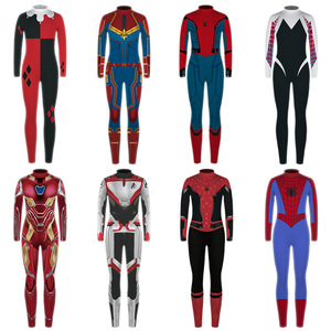 Комплект одежды для мальчиков и девочек, Marvel Avengers 4, Осенний Детский костюм супергероя, человека-паука, Капитана Америка, молодежные комплек...
