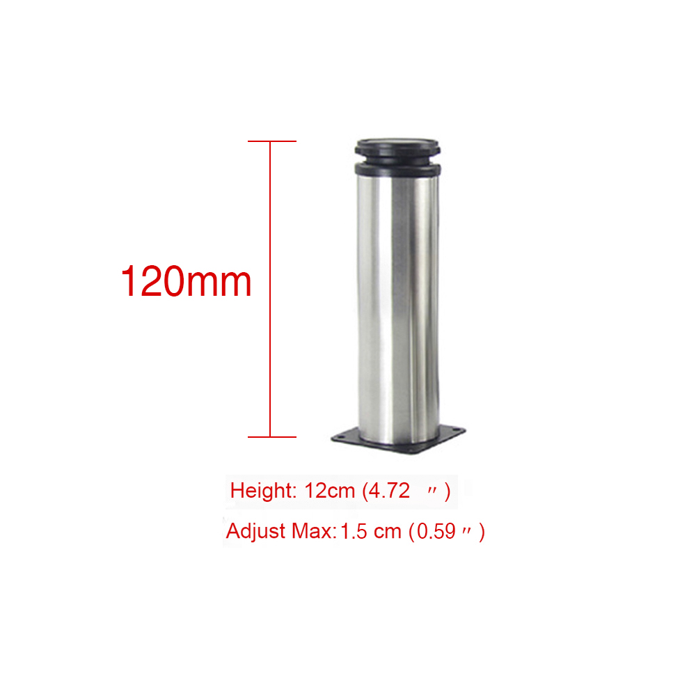 12CM Adjustable Stainless Steel Furniture Legs Cabinet Table Sofa Bed Feet Furniture Legs Feet