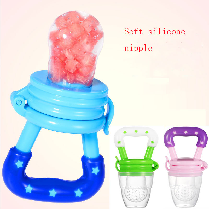 Силиконовый детский успокоитель младенцев Соска-пустышка детские соски Фидер для еда, фрукты пустышки для младенцев для кормления с соской