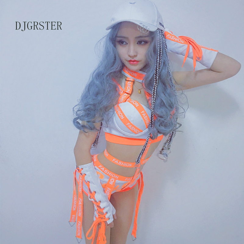 DJGRSTER Women Ladies Fashion Design Dance Bodysuits Hiphop Dance Clothes Dance Costume Jazz Girls Singer Stage Performance Wear (3)