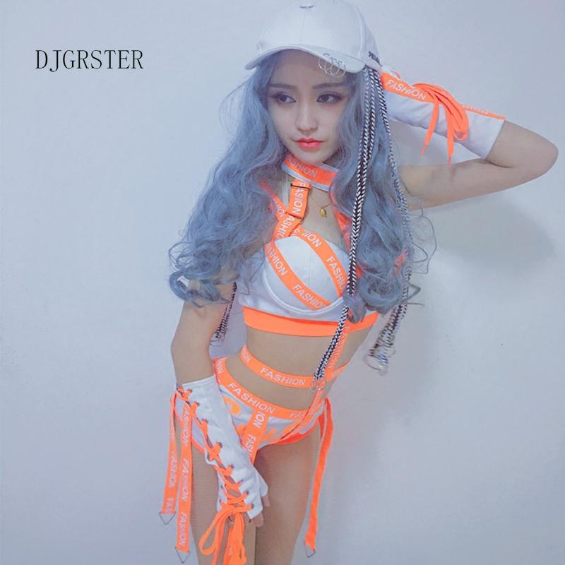 DJGRSTER Women Ladies Fashion Design Dance Bodysuits Hiphop Dance Clothes Dance Costume Jazz Girls Singer Stage Performance Wear (3)