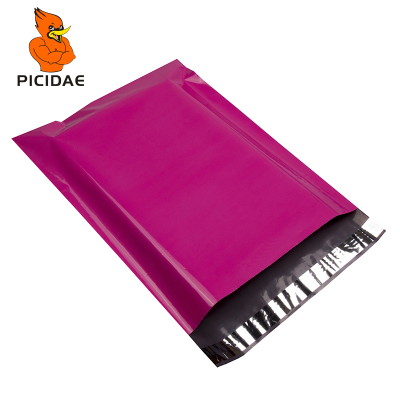 Packaging Poly Mailer Package Shipping Plastic Bag By Envelope Courier Self Adhesive Supplies foreign trade Export Rose red