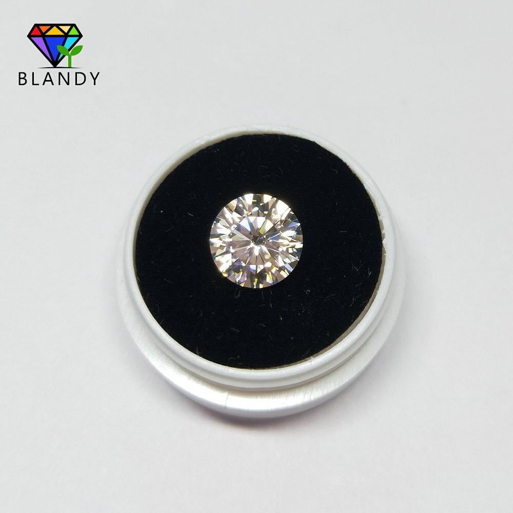 Frete grátis 3mm a 11mm amarelado/amarelo cor branca moissanit corte redondo sic material solto pedra para jóias