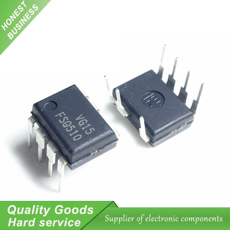 10PCS FSQ510 IC SWITCH FPS 0.5A 700V 7-DIP LCD management chip New Original Free Shipping