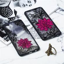 Huawei NOVA 2S Case Huawei NOVA 2S Cover TPU +PC Lace Rose Flower Silicone Phone Case For Huawei Nova 2S Back Cover Funda Capa goowiiz золото черное huawei nova 2s