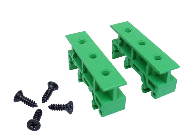 10 Set DIN 35mm DIN Rail,C45 Rail PCB Mounting Adapter Circuit Board PCB Bracket Stationary Barrier Mounting Bracket For PCB