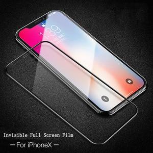 Image 5 - 2 個防塵のための iphone × iphone 11 強化ガラス 3D フル画面プロテクターフィルムのための iphone 11 プロ 11Pro 最大