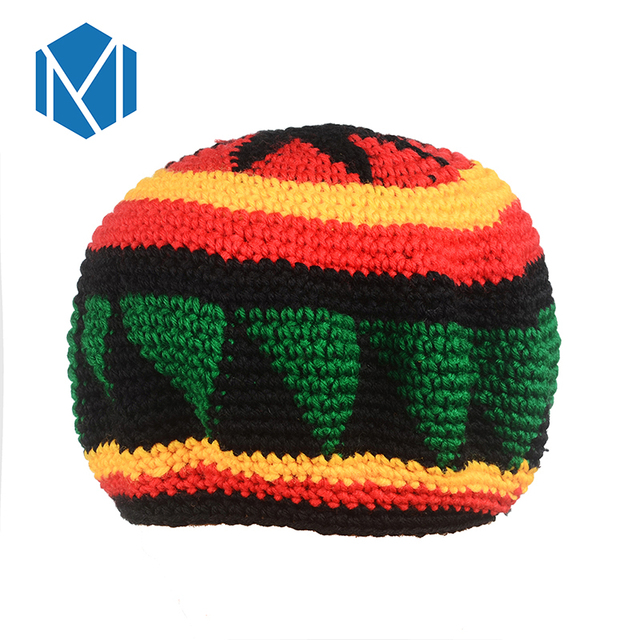 21ff32472a543 Miya Mona Jamaica Fashion Women New Design Caps Colorful Winter Knitted Hat  Weave Rainbow Striped Sweater Knitted Beanie Hat