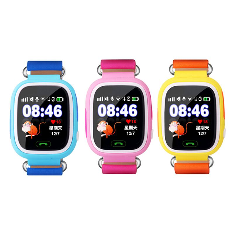<font><b>GPS</b></font> <font><b>Q90</b></font> Touch Screen WIFI Positioning Smart Watch Children SOS Call Location Finder Device Tracker Kid Safe Anti Lost Monitor image
