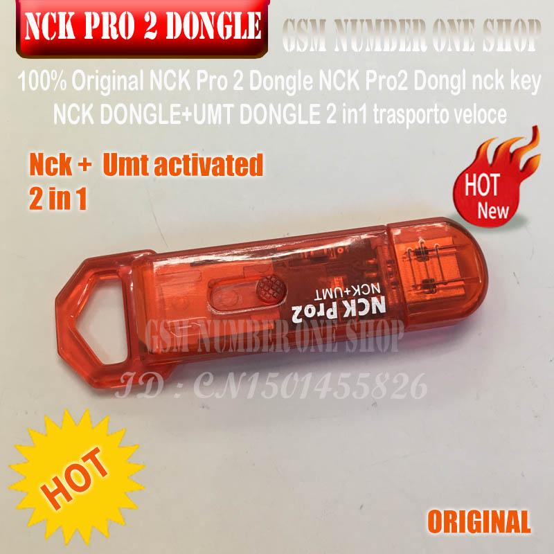 gsmjustoncct 100% 2019 Original NCK Pro Dongle NCK Pro2 Dongl nck key NCK DONGLE+UMT DONGLE 2 in1 fast shipping