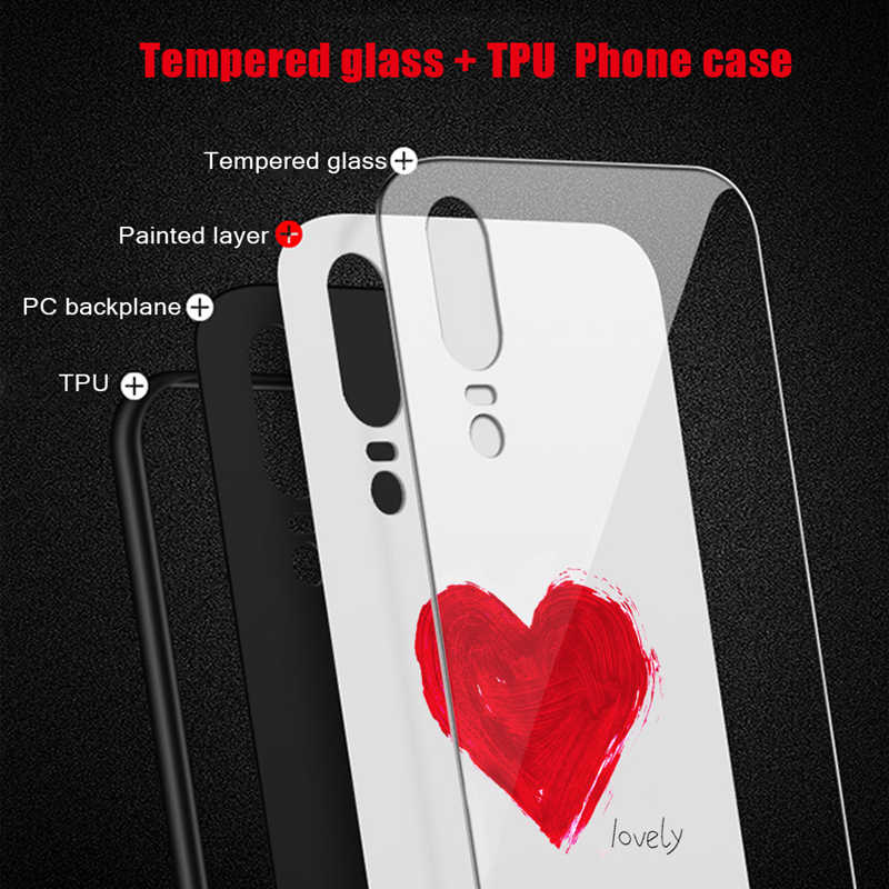 For Huawei P30 Pro Case Fashion Tempered Glass Case For Huawei Mate 20 10 30 P20 P30 Lite P20 Pro Pattern Phone Back Cover