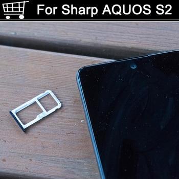 For Sharp AQUOS S2 S 2 Original Sim Card Holder Tray Card Slot For Sharp AQUOSS2 S 2 Holder Sim Card Holder