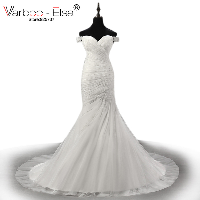 varboo_elsa luxury pearl beaded white lace wedding dress 2018