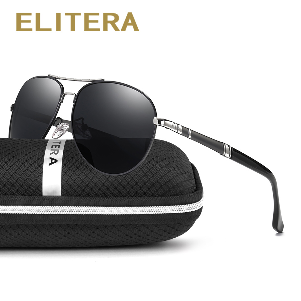 ELITERA Brand Designer Fashion Pilot Mens Solglasögon Polariserad Male Sun Glasses oculos de sol masculino For Men