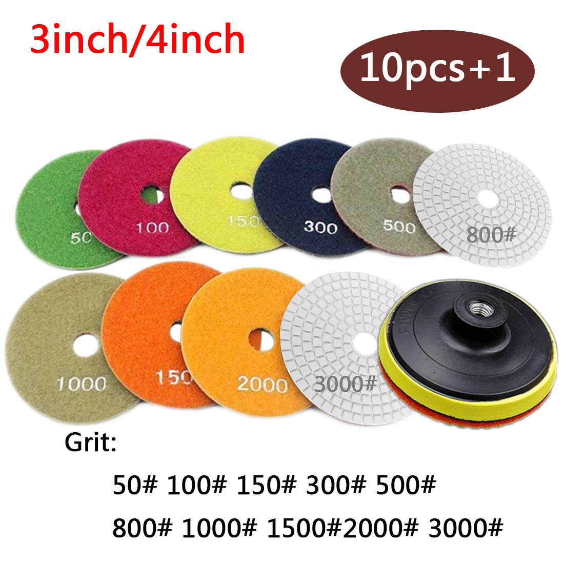 Flexible Diamond Dry Polishing Pads 10pcs 3