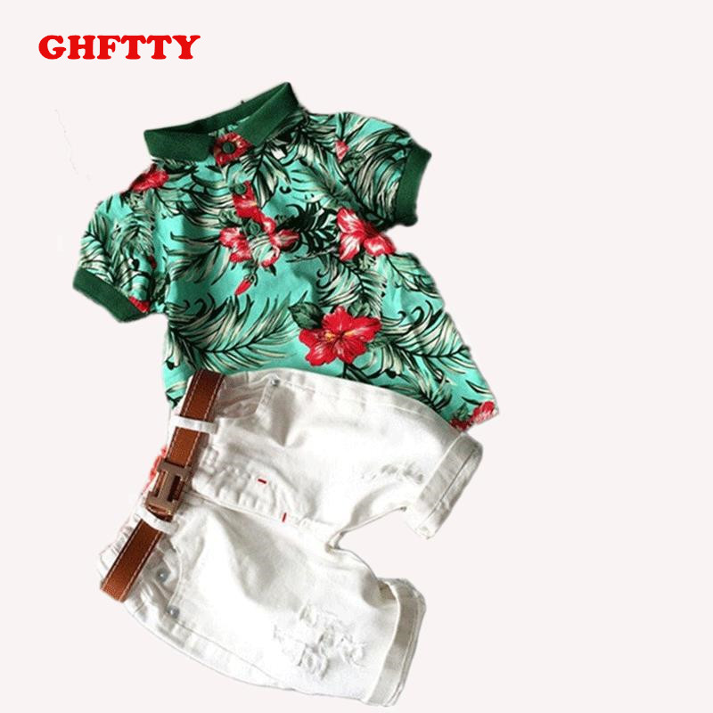 New Baby boys clothes Summer Children clothing sets Baby boys girlsA gentleman t shirts+shorts pants sports suit kids clothes