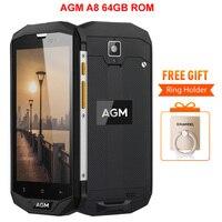 AGM A8 IP68 4GB RAM 64GB ROM Waterproof Phone 5 0 Inch Qualcom Snapdragon MSM8916 Quad