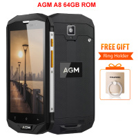 AGM A8 IP68 4GB RAM 64GB ROM Waterproof Phone 5 0 Inch Qualcom Snapdragon MSM8916 Quad