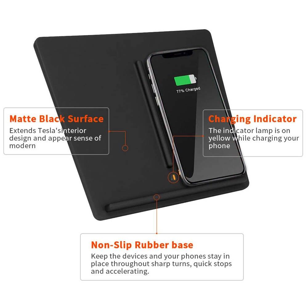 最も安い Nadler 3 ポートデュアル電話センターコンソール充電