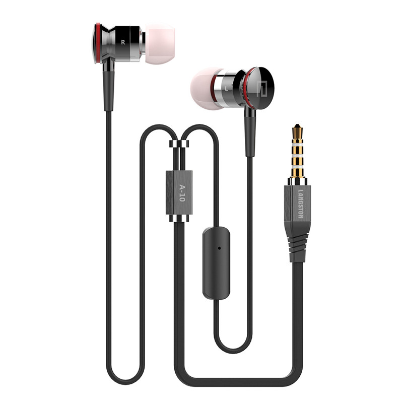 Newest A10 Wired Earphone 3.5mm In-Ear Earbuds Super bass Stereo Hifi Headset With Microphone For Ios Android Phone Clear Sound newest plextone x33m in ear earphones with microphone brand hot super bass wired portable headset for mobile phone ipad mp3 mp4