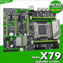 PLEXHD X79 Turbo motherboard LGA2011 ATX USB3.0 SATA3 PCI-E NVME M.2 SSD support REG ECC memory and Xeon E5 processor(China)