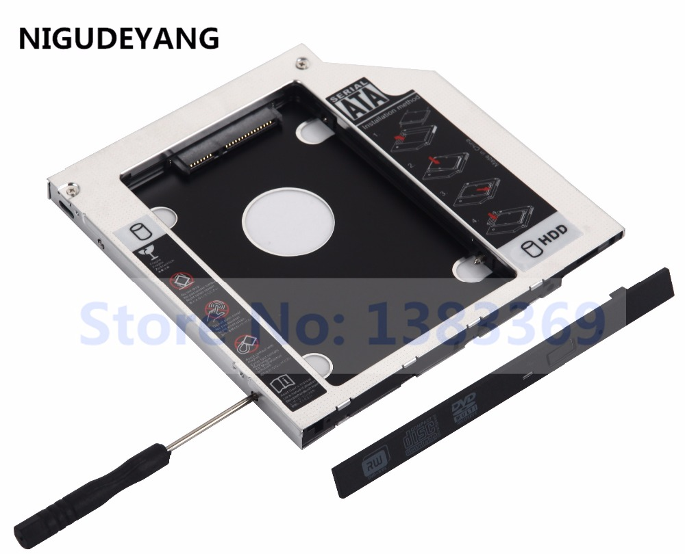 DY-tech SATA 2nd Hard Drive HDD SSD Caddy for Samsung 530U4B NP-SF411 NP530U4C-S01ES