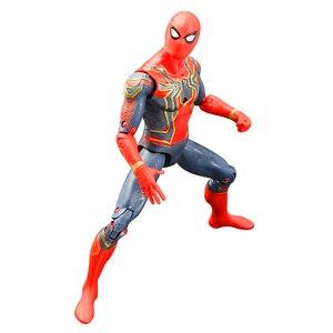 Image 2 - 16cm Marvel Avengers Toy Thanos Spiderman Hulk Iron Man Captain America Thor Ant man Action Figure Toys Model Dolls For Kids